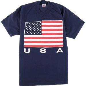 90年代 フルーツオブザルーム FRUIT OF THE LOOM 星条旗柄 プリントTシャツ USA製 メンズL ヴィンテージ 【中古】 【200309】 /eaa011627|jamtrading1