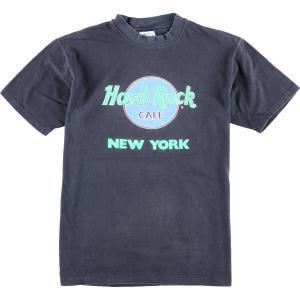 80年代 ヘインズ Hanes HARD ROCK CAFE ハードロックカフェ NEW YORK アドバタイジングTシャツ USA製 メンズM ヴィンテージ 【中古】 【200313】 /eaa014136|jamtrading1