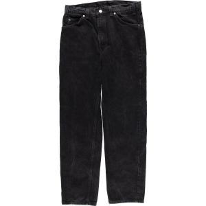 90年代 リーバイス Levi's 505 REGULAR FIT STRAIGHT LEG ブラックジーンズ テーパードデニムパンツ メンズw32 ヴィンテージ 【中古】 【200403】 /eaa016428|jamtrading1
