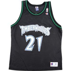 90年代 チャンピオン Champion NBA BOSTON CELTICS ボストンセルティックス ゲームシャツ KEVIN GARNETT ケビンガーネット 【中古】 【200402】 /eaa017743|jamtrading1