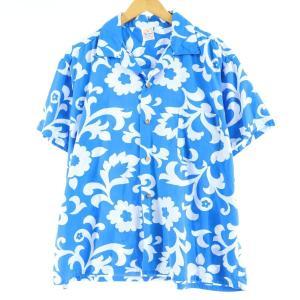 60〜70年代 SUN-DEK of Hawaii 総柄 オープンカラー ハワイアンアロハシャツ USA製 メンズL ヴィンテージ 【中古】 【200405】 /eaa017948|jamtrading1