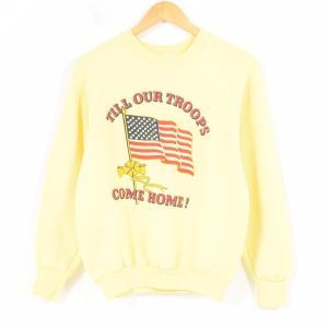 8eb24ed95aaab9 80年代 フルーツオブザルーム FRUIT OF THE LOOM プリントスウェットシャツ トレーナー USA製 レディースM ヴィンテージ  【中古】 【180413】 /waq4399