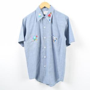 70年代 ジェイシーペニー J.C.Penney BIG MAC ビッグマック 刺繍 半袖 シャンブ...