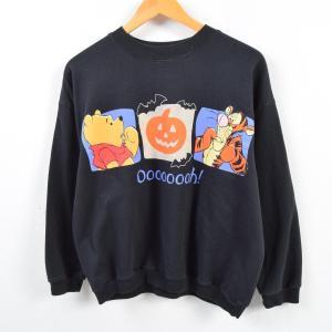 Pooh POOH&TIGGER くまのプーさん&ティガー キャラクタースウェットシャツ トレーナー...