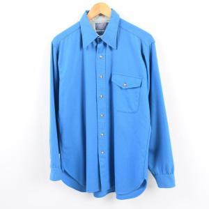 70〜80年代 ペンドルトン PENDLETON エルボーパッチ付き ウールシャツ USA製 メンズ...