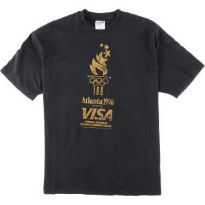 90年代 ヘインズ Hanes Atlanta 1996 アトランタオリンピック1996 ロゴプリントTシャツ USA製 メンズXL ヴィンテージ 【中古】 【200309】 /wbi7060|jamtrading1