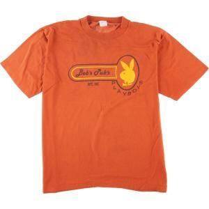 80年代 SPORTSWEAR プレイボーイ パロディ プリントTシャツ USA製 メンズL ヴィンテージ 【中古】 【200309】 /wbi7064|jamtrading1