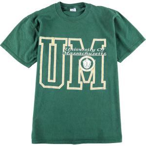 90年代 ベルバシーン VELVA SHEEN University of Massachusetts マサチューセッツ工科大学 カレッジTシャツ USA製 メンズL 【中古】 【200327】 /wbi8047|jamtrading1