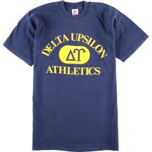 90年代 フルーツオブザルーム FRUIT OF THE LOOM DELTA UPSILON ATHLETICS カレッジプリントTシャツ USA製 メンズL ヴィンテージ 【中古】 【200328】 /wbi8119|jamtrading1