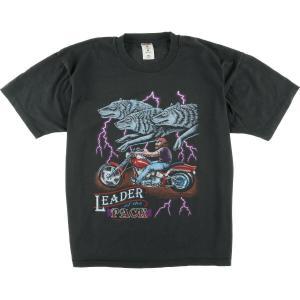90年代 フルーツオブザルーム FRUIT OF THE LOOM LEADER OF THE PACK オオカミ柄 モーターサイクル バイクTシャツ メンズXL 【中古】 【200328】 /wbi8138|jamtrading1