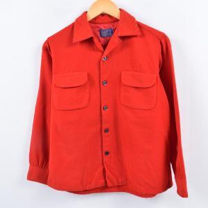 50~60年代 ペンドルトン PENDLETON ボードシャツ オープンカラー ウールボックスシャツ...