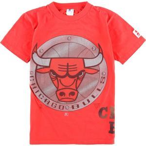 90年代 スターター Starter NBA CHICAGO BULLS シカゴブルズ スポーツプリントTシャツ カナダ製 メンズS  ヴィンテージ 【中古】 【200306】 /wbj0547|jamtrading1