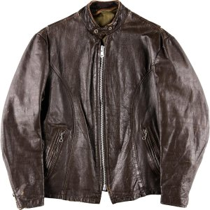 60~70年代 UNKNOWN シングルライダースジャケット 40R メンズM ヴィンテージ 【中古】 【200308】 /wbj1040|jamtrading1