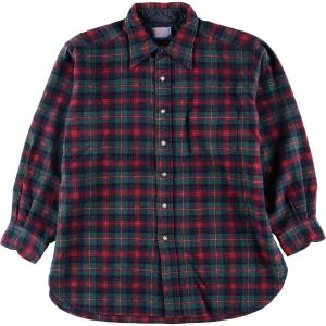 70~80年代 ペンドルトン PENDLETON チェック柄 ウールシャツ USA製 メンズM ヴィ...