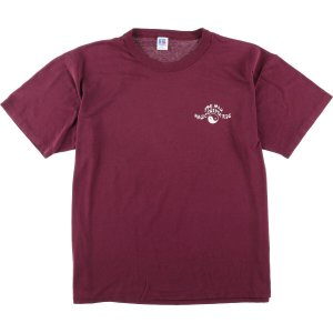 80年代 ラッセル Russell MAGIC CARRET RODE 太極図 プリントTシャツ USA製 メンズXL ヴィンテージ 【中古】 【200328】 /wbl0564|jamtrading1