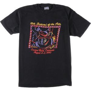 90年代 ヘインズ Hanes 18TH FESTIVAL OF THE ARTS アートTシャツ USA製 メンズXL ヴィンテージ 【中古】 【200328】 /wbl0565|jamtrading1