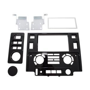 ダブルディンフェイシアキット(ピアノブラック)/ディフェンダー jandl-automotive