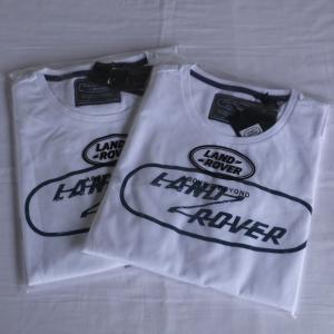 ランドローバーメンズグラフィックTシャツホワイトサイズS・L/LANDROVER men's T-shirt jandl-automotive