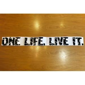 ONE LIFE,LIVE ITステッカー大|jandl-automotive