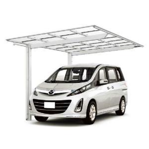 カーポート1台用/NESCA/ネスカF/レギュラー1台用/カーポート/ポリカーボネート屋根材/標準柱(H22)/送料無料|janet