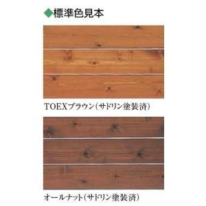 ウッドデッキ補修用木材保護着色塗料/リクシル/ブラウン/オールナット/0.7リットル/LIXIL/toex|janet