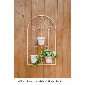 壁掛けプランター/トリポット/ブリキポット3個付/KKA02-03W|janet