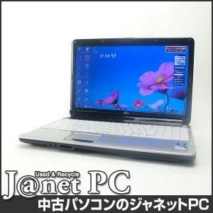 中古ノートパソコン Windows7 15.6型ワイド液晶 Celeron P4600 2.0GHz RAM4GB HDD640GB DVDマルチ 無線 Office付属 富士通 AH530/1B【1126】|janetpc