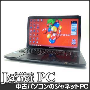 中古ノートパソコン Windows8 15.6型ワイド液晶 Celeron B830 1.80GHz RAM4GB HDD640GB DVDマルチ 無線 Office付属 東芝 dynabook T552/36GBS【120】|janetpc