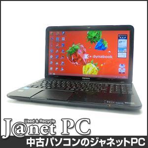 中古ノートパソコン Windows8 15.6型ワイド液晶 Celeron 1000M 1.80GHz RAM4GB HDD750 ブルーレイ 無線 Office付属 東芝 dynabook T552/36HB【2216】|janetpc