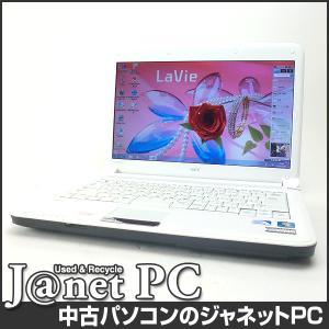 中古ノートパソコン Windows7 14型ワイド液晶 Celeron P4600 2.0GHz RAM4GB HDD320GB DVDマルチ 無線 Office付属 NEC LE150/D【222】|janetpc