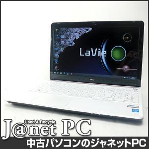 中古ノートパソコン Windows8.1 15.6型ワイド液晶 Celeron 1005M 1.90GHz RAM4GB HDD750GB DVDマルチ 無線 Office付属 NEC LS150/RSW【2354】|janetpc