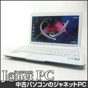中古ノートパソコン Windows7 13.3型ワイド液晶 Celeron SU2300 1.20GHz RAM2GB HDD320GB 無線 Office付属 NEC LM370/CS【2355】|janetpc