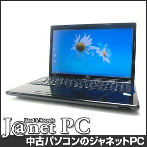 中古ノートパソコン Windows8 15.6型ワイド液晶 Celeron B800 1.50GHz RAM4GB HDD500GB DVDマルチ 無線 Office付属 NEC VJ15E/FW-F【2382】 janetpc
