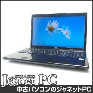 中古ノートパソコン Windows8 15.6型ワイド液晶 Celeron B800 1.50GHz RAM4GB HDD320GB DVDマルチ 無線 Office付属 NEC VK15E/FW-F【2383】 janetpc