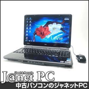 中古ノートパソコン Windows7 15.6型ワイド液晶 Celeron P4500 1.86GHz RAM4GB HDD500GB DVDマルチ 無線 Office付属 NEC LL370/BS【2409】 janetpc