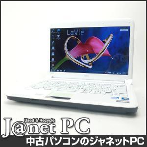 中古ノートパソコン Windows7 14型ワイド液晶 Celeron P4600 2.0GHz RAM4GB HDD320GB DVDマルチ 無線 Office付属 NEC LE150/C【408】 janetpc