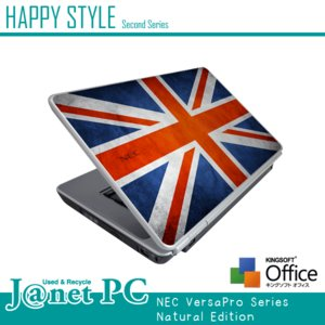HAPPY☆STYLE 2nd 大人気デザインPC Windows7 Core2Duo 2.53GHz RAM2GB HDD160GB DVD-ROM 無線LAN Office付属 NEC VY25A/A Flag-I 中古ノートパソコン|janetpc