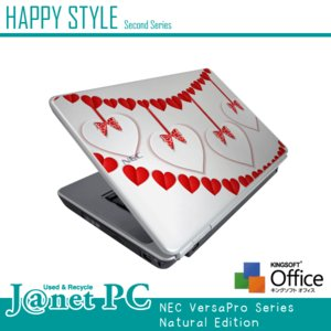 HAPPY☆STYLE 2nd 大人気デザインPC Windows7 Core2Duo 2.53GHz RAM2GB HDD160GB DVD-ROM 無線LAN Office付属 NEC VY25A/A Cute-C 中古ノートパソコン|janetpc