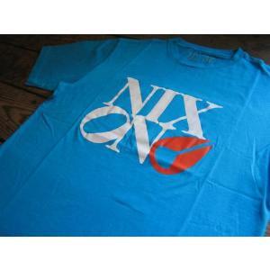 NIXON(ニクソン)社 Tシャツ 品番 PHILLY TOO サイズ M TURQUOISE(ターコイズ)|janis
