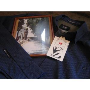 Apex museum (エーペックスミュージアム)社  ストライプ柄 長袖シャツ |janis