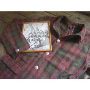 INDIANMOTOCYCLE(インディアンモトサイクル) ウールメルトンチェックカバーオールジャケット|janis