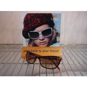 PAUL FRANK(ポールフランク)社  SUNGLASS サングラス  品番 VALERIE TEARDROP BURG  OFF WHITE STRIPE       |janis