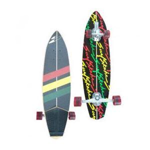 Surfskateboards (サーフスケートボード )品番The The Stunner Black / RASTA / BLACK RASTA /Ocean 36インチ|janis|03