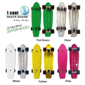 1cent skateboard(ワンセントスケートボード) Tint Green / Clear / White / Yellow / Pink|janis