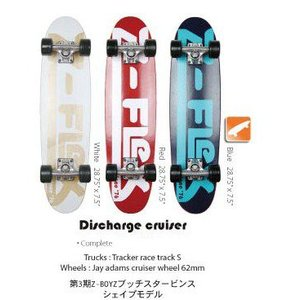 Z-FLEX Skatebords 品番 Discharge Cruizer 28 Complete Blue / Red / White|janis