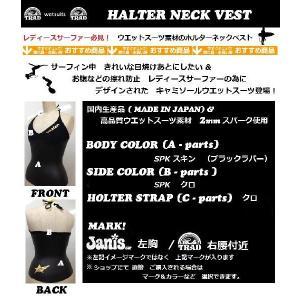 【受注発注商品】 TRAD (トラッド) ウエットスーツ ホルターネック ベスト タイプ|janis