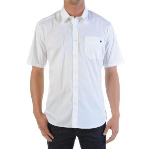 VOLCOM (ボルコム) short sleeved shirt (半袖シャツ)  Why Factor Solid S/S XL ホワイト|janis