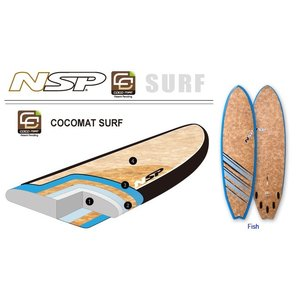NSP surfboards  品番  CocoMat FISH 6'0