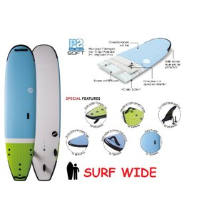 NSP surfboards ファンボード 品番 SOFT SCHOOL SURF WIDE 8'4