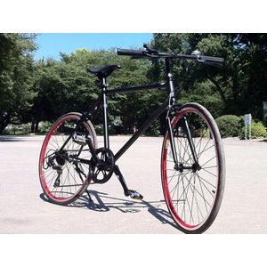GRQ CTB Crossbike1 Mat Black シーティービー クロスバイク ワン マットブラック レッドリム|janis